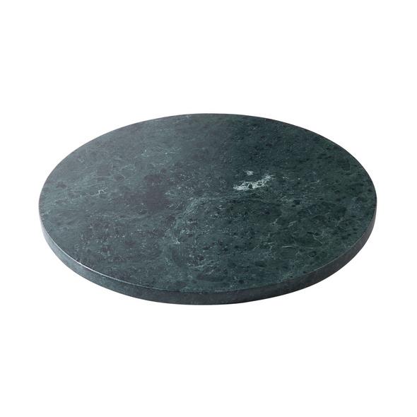 MARBLE Marmorplatte Ø 30 cm grün