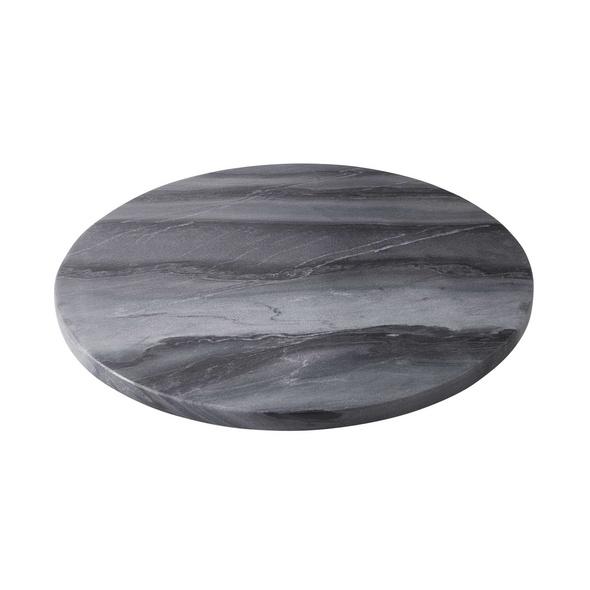 MARBLE Marmorplatte Ø 30 cm dk grau