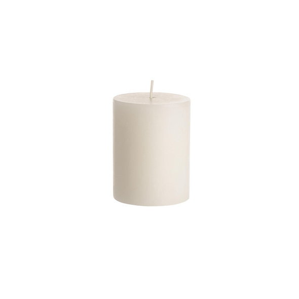 RUSTIC  Kerze Ø6,8x9cm elfenbein