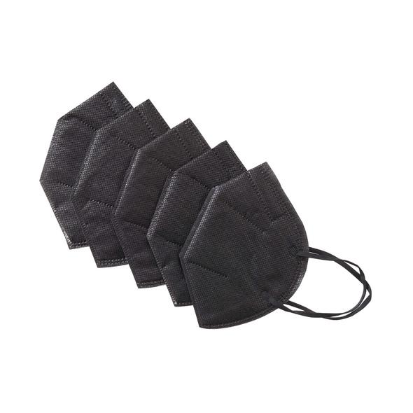FFP2 Maske, schwarz, 5 Stück