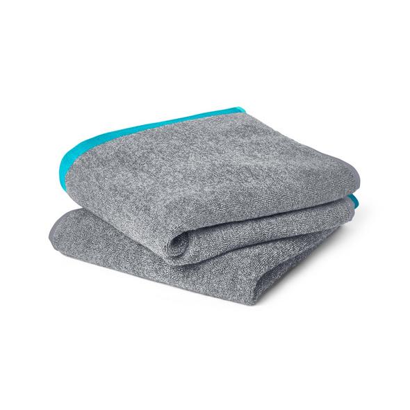2 Handtücher, grau