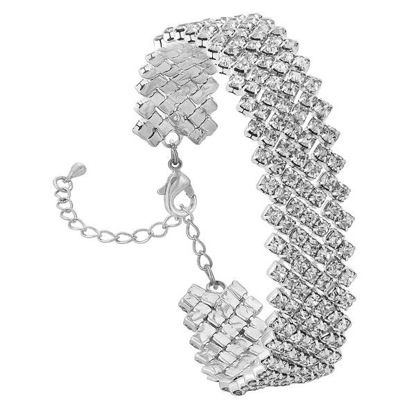 Armband - Angular Silver