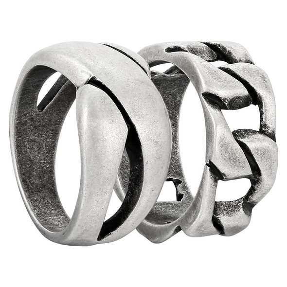 Herren Ring-Set - Metallic Shine