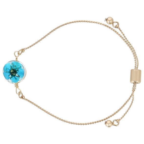 Armband - Blue Gold Flower