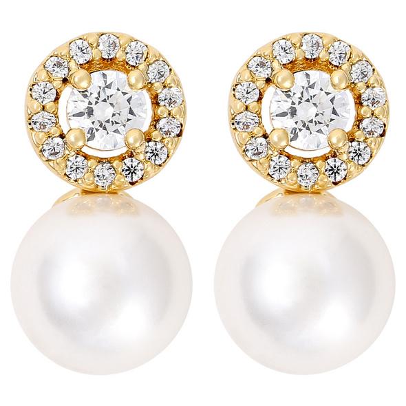 Ohrstecker - Golden Pearl