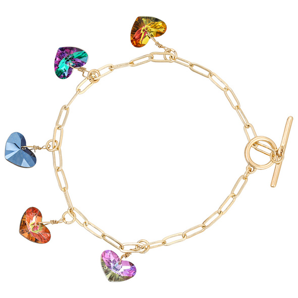 Armband mit Anhänger - Colorful Heart
