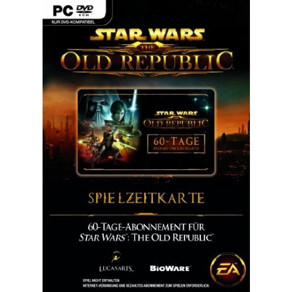 Star Wars The Old Republic Gametime Card 60 Tage