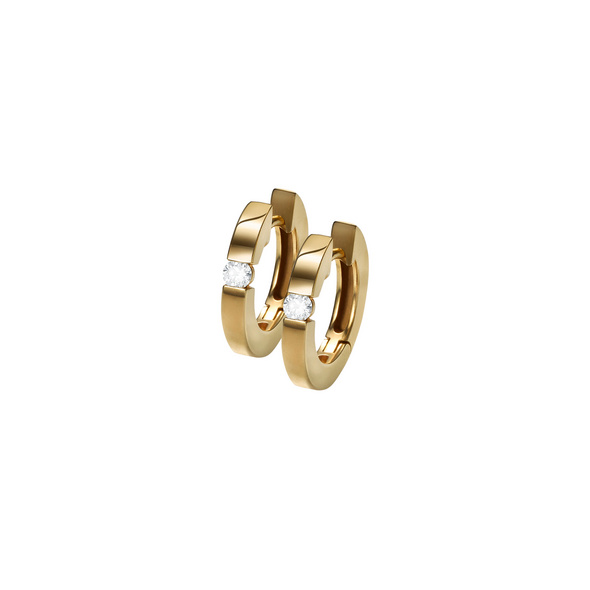 Ohrringe Zirkonia Gold