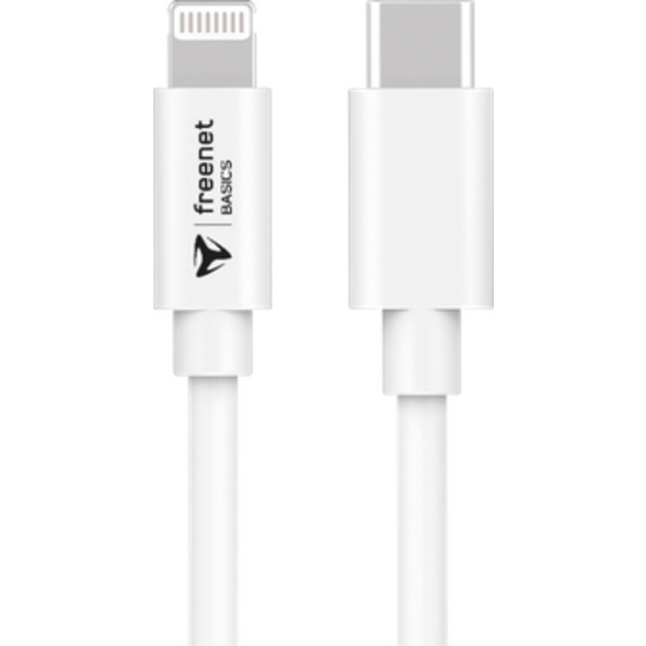 freenet Basics Lightning/USB-C Kabel 1,5m (weiß)