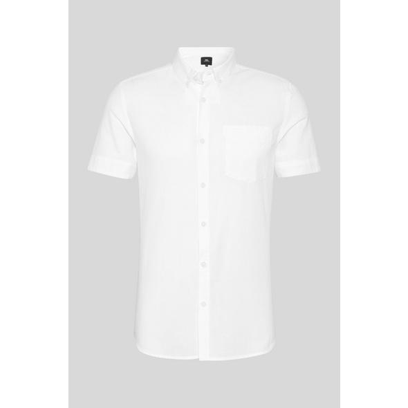 Hemd - Regular Fit - Button-down - Bio-Baumwolle