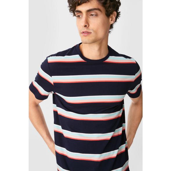 T-Shirt - Bio-Baumwolle - gestreift