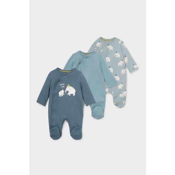 Multipack 3er - Baby-Schlafanzug - Bio-Baumwolle