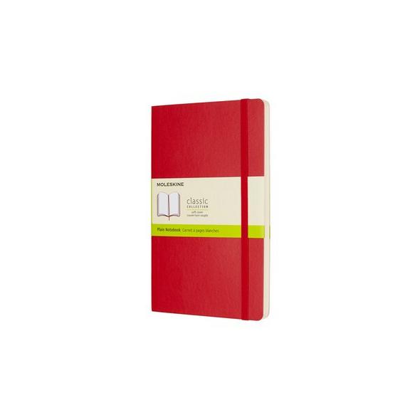 Moleskine Notizbuch L/a5, Blanko, Soft Cover, Scharlachrot