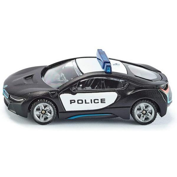 SIKU 1533 - Police, US-Polizeiauto, BMW i8, schwarz/weiß