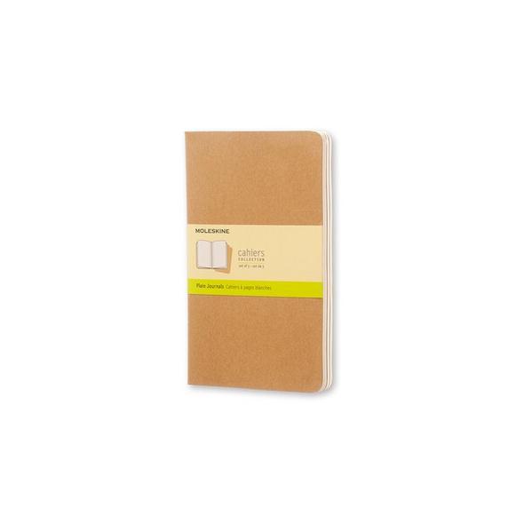 Moleskine Cahier, 3er Set, Large/A5, Blanko