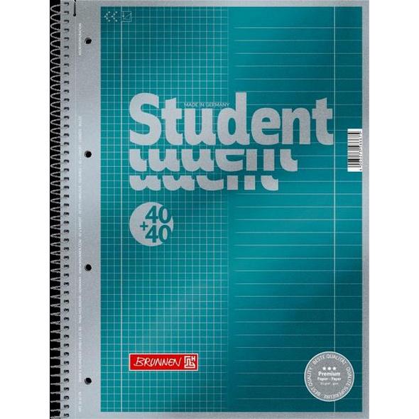 Brunnen Collegeblock Premium Student Duo A4 40+40