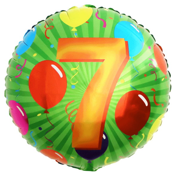 Folienballon mit Zahl 7