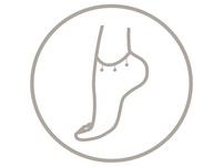 Fußkette - Crystal  Foot