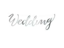Banner Wedding. silver. 16.5x45cm. 1piece