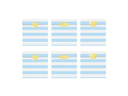 Treat bags Yummy, light blue, 13x14cm (1 pkt / 6 pc.)