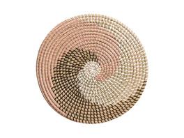 RONDA Tischset Seegras rosa weiß braun