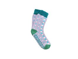 COZY SOCKS Socken Punkte grau/grün 35-38
