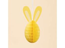 EASTER Papierdeko Osterei 60cm gelb