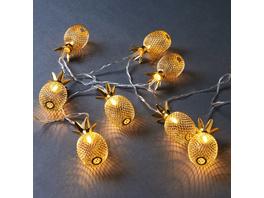 MIAMI Lichterkette Ananas 165 cm, gold