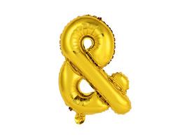 """UPPER CLASS Follienballon gold """"&"""""""