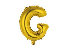"""UPPER CLASS Follienballon gold """"G"""""""