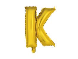 """UPPER CLASS Follienballon gold """"K"""""""