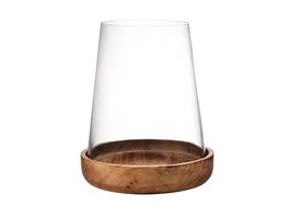 FOREST Windlicht Glas & Mangoholz 21cm