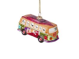 HANG ON Anhänger Hippie Bus glitter Glas