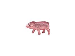PIGGY Glitter Schwein 9cm rosa