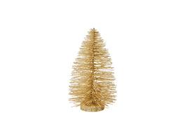 X-MAS Tannenbaum mit Glitzer,22 cm,gold