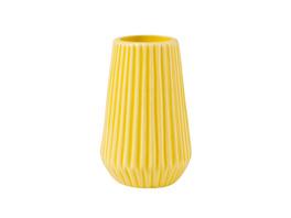 RIFFLE Porzellan Vase 13,5cm  gelb