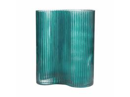 AVERY geschwungene Vase 24cm petrol