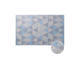 COLOUR CLASH Teppich Dreiecke bl 180x118