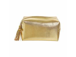 STROBE Kosmetiktasche quadratisch gold