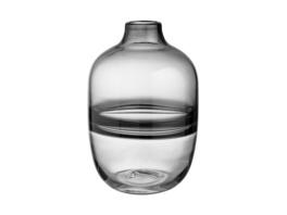 MIA-FLEUR Glas Vase H25cm, grau