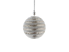 HANG ON Kordel Kugel 6cm silber Perlen