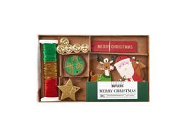 MERRY CHRISTMAS Geschenkanh. Set Xmas