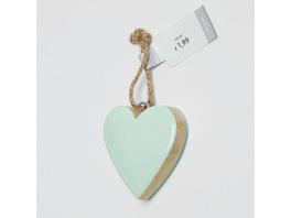 PASTEL HEART Anhänger Mango Holz, sort.