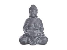 BUDDHA Statue mit Kerzenhalter 68cm,grau
