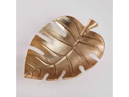 GOLDEN NATURE Deko Schale Monstera, 23cm