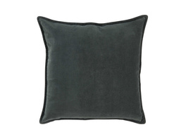 COTTON VELVET Kissen,dunkelgrün,45x45 cm