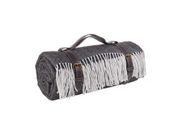 ASCOT Picknickdecke,schwarz/weiß,200x150