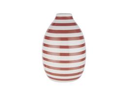 CARO Mini Vase Streifen, terracotta