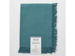 WAFFLE Serviette, mit Fransen, grün