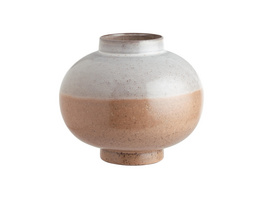 LIVIA Keramik Kugelvase creme/rosa